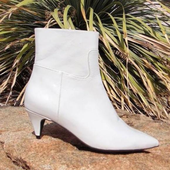 530dff77ac Jeffrey Campbell Shoes | Muse Kitten Heel Booties Wht New | Poshmark